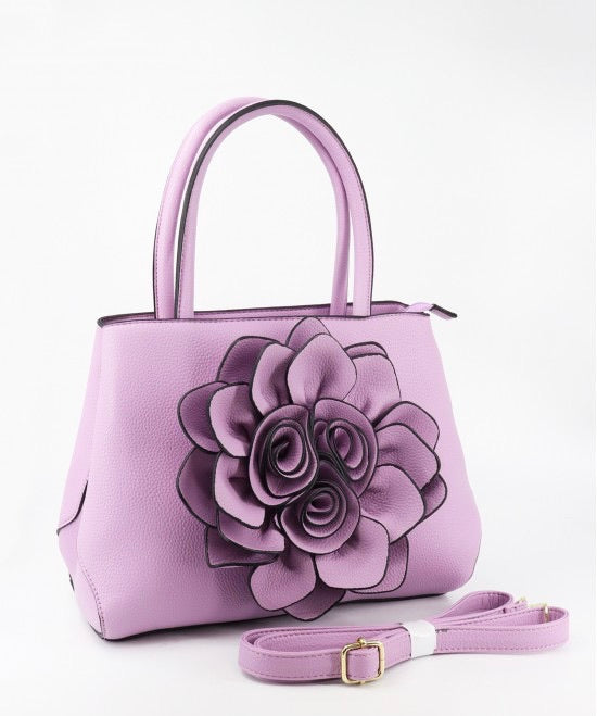 Light purple flower tote