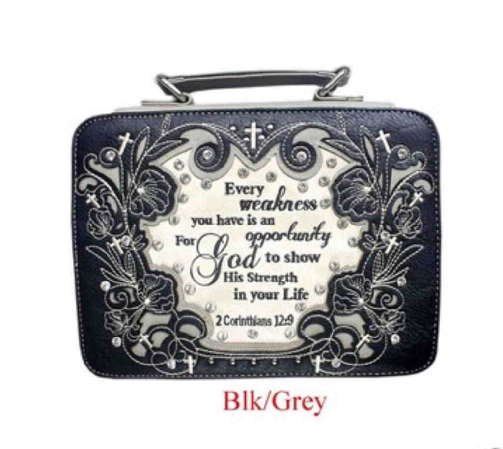 Black/grey Every weakness bible cover