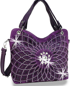 Purple web bling