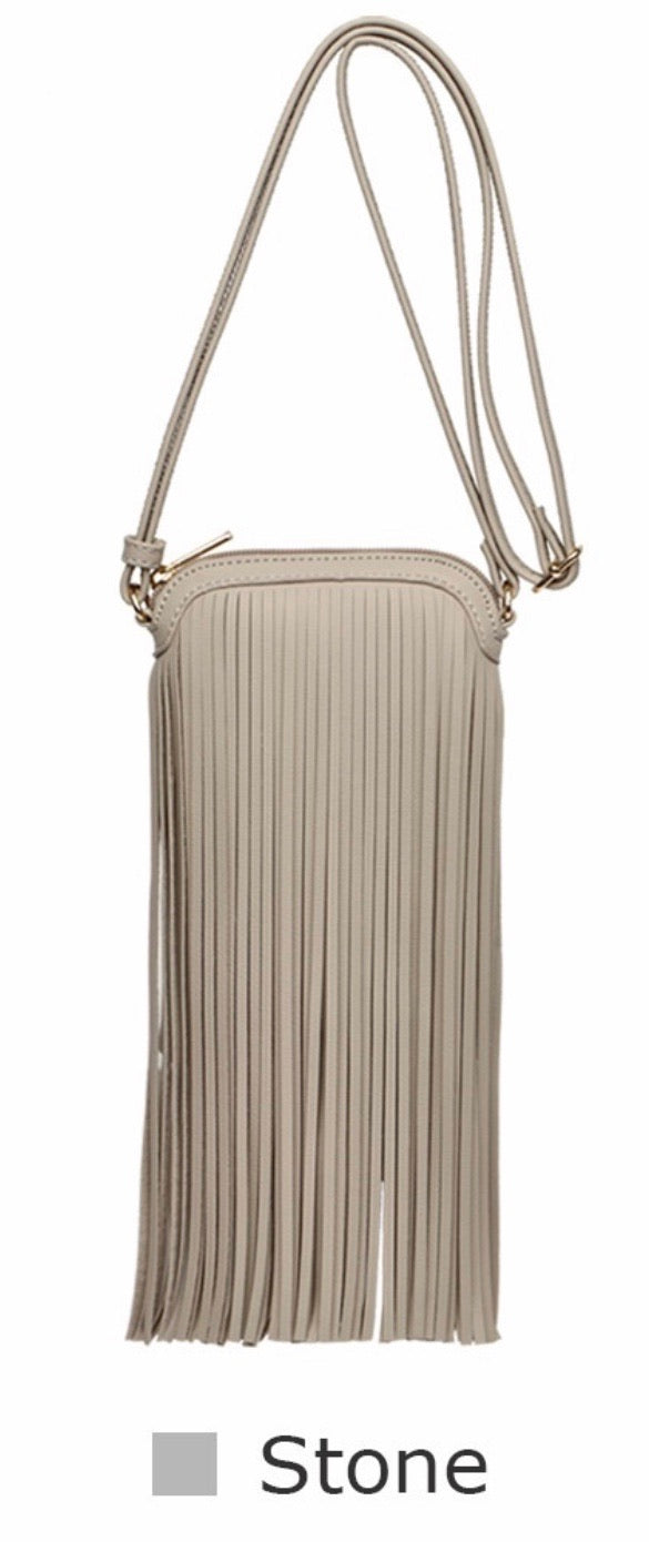 Stone mini fringe messenger