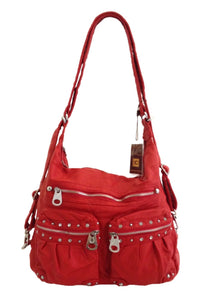 Red large bling 3 in 1 style backpack purse