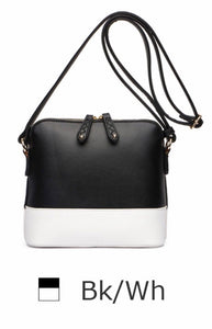 Black/white Crossbody tote