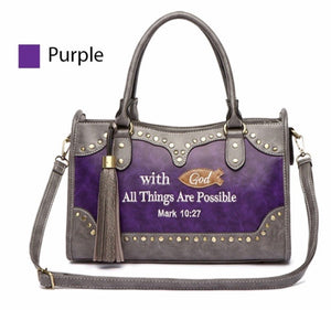 Purple mark 10:27 handbag