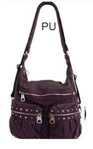 Purple large bling 3 in 1 style backpack purse