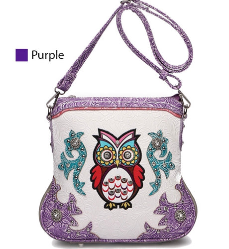 Owl messenger in Purple