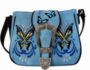 Lav butterfly crossbody with buckle