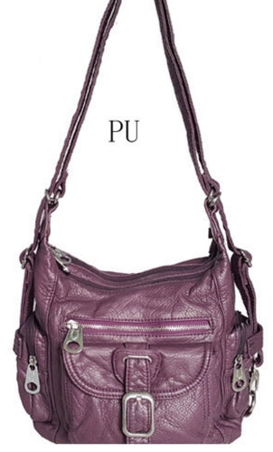 Purple small 3 in 1 style backpack purse