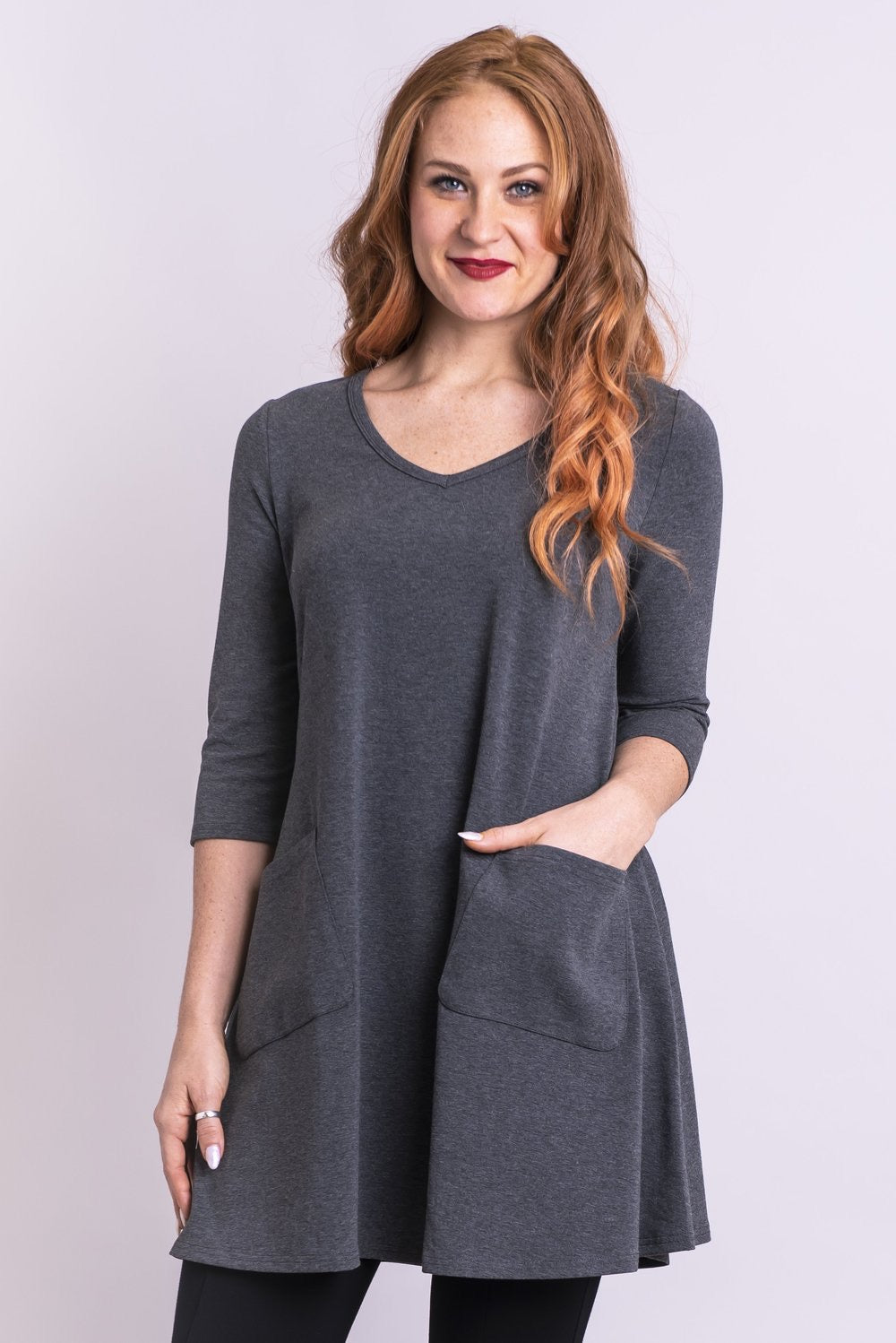 Bamboo Veronica tunic - grey
