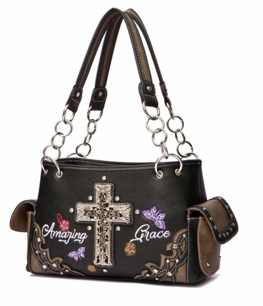 Black amazing grace purse