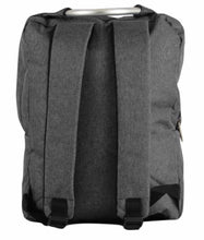 Load image into Gallery viewer, Grey fabric backpack with silver handle