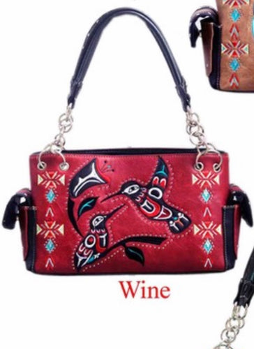 Red hummingbird purse