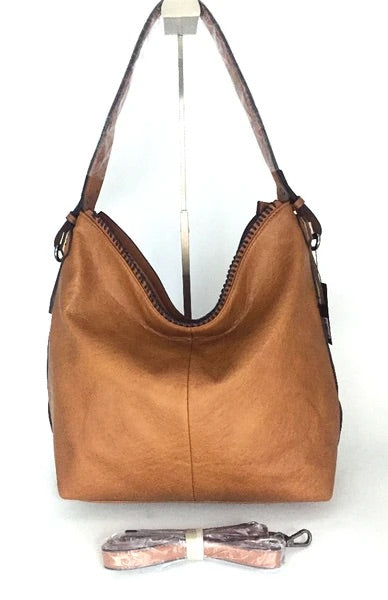 Brown ALP purse with long strap