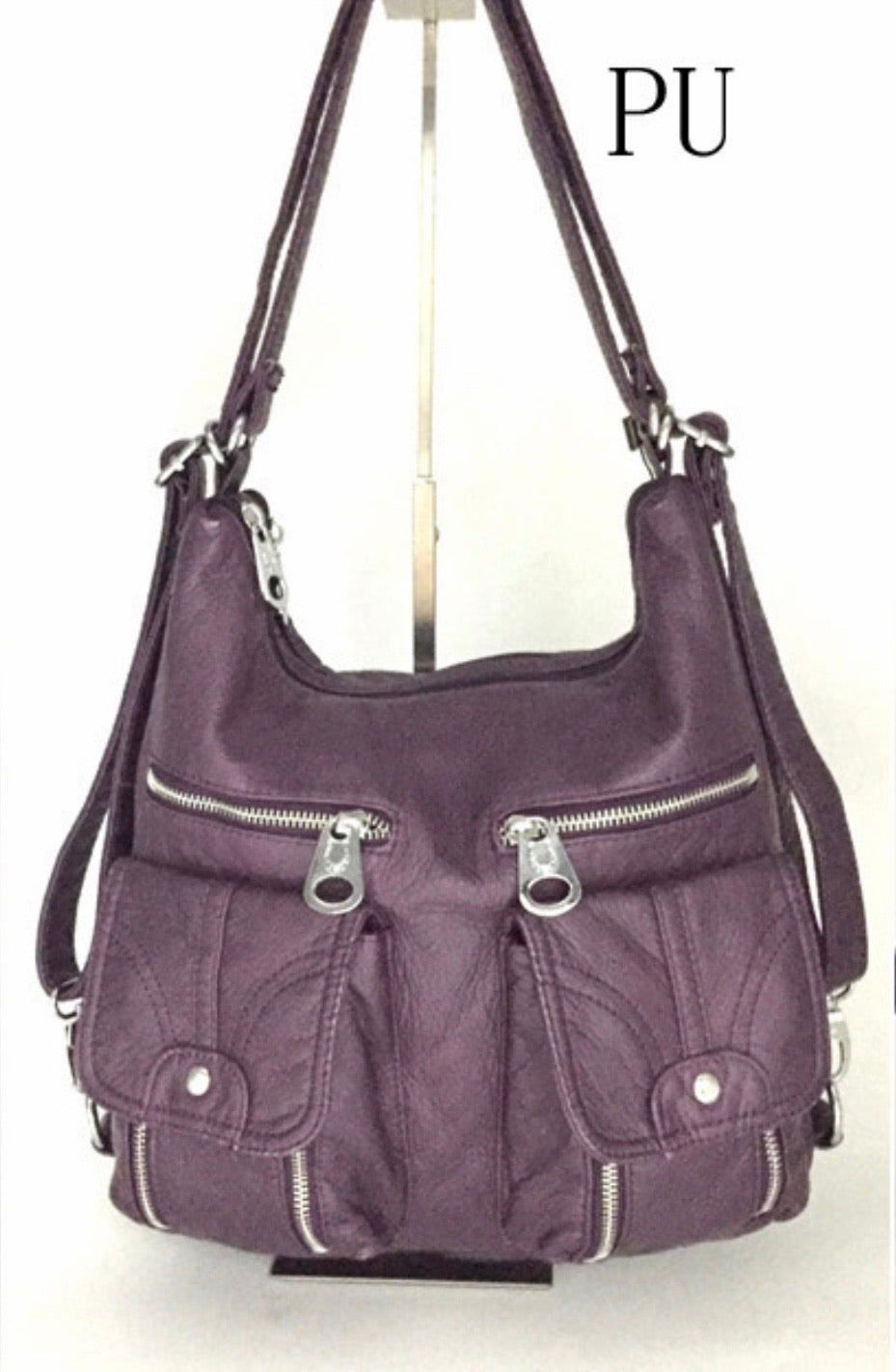 Purple 3 in 1 with 2 front snaps and 2 zippers