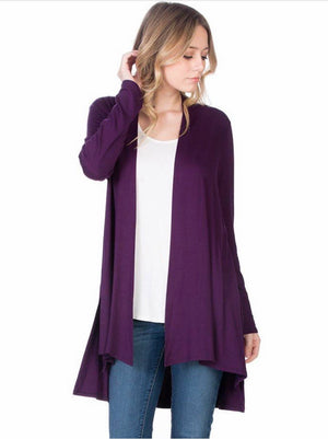 Purple cardigan AZ
