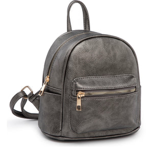 Pewter mini backpack FW