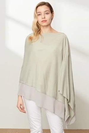 Grey Asymmetrical Poncho