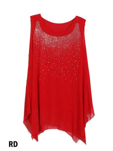 Red Sparkle Top With Star Design