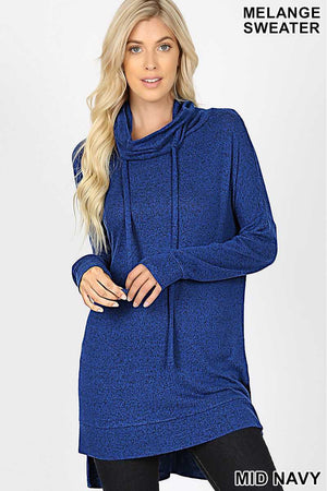 Mid Navy funnel neck sweater MC