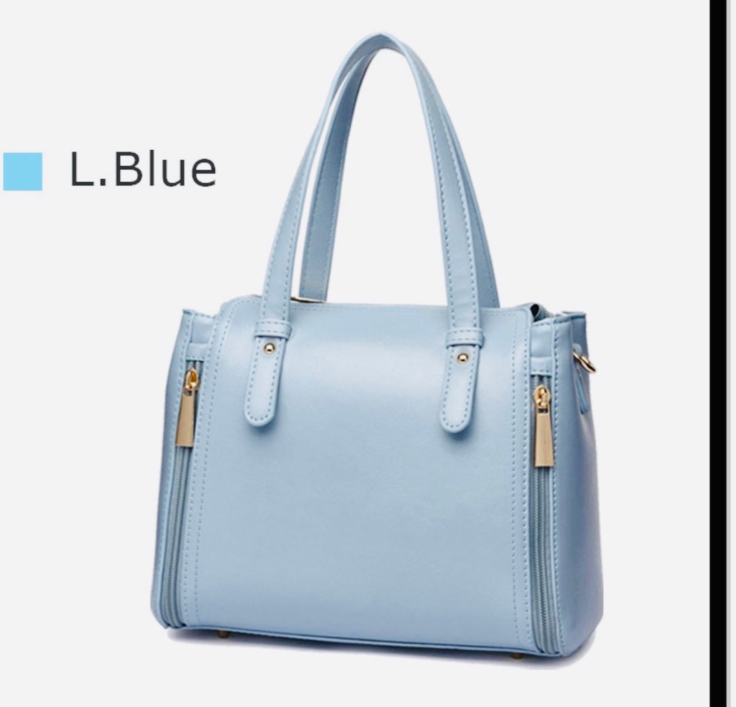 Light blue BH handbag with long strap