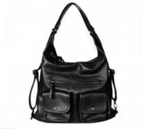 Large black HJ 3 in 1 style backpack purse