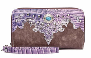 Purple wallet to match large fringe purse