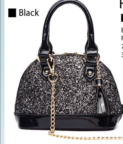 Small Black Glitter Bag
