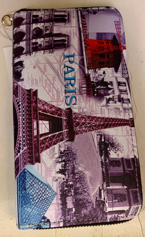 Paris purple wallet