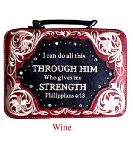 Wine bible cover Philippians 4:13