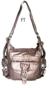 Pewter small 3 in 1 style backpack purse