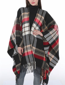 Plaid cape multicolour