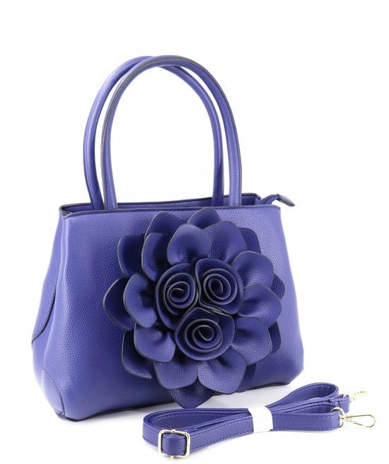 Royal blue flower tote