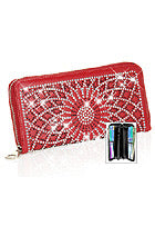 Red web bling wallet