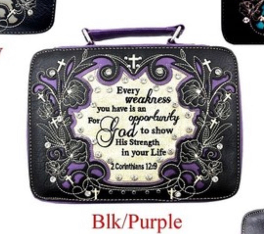 BK/PU Every weakness bible cover