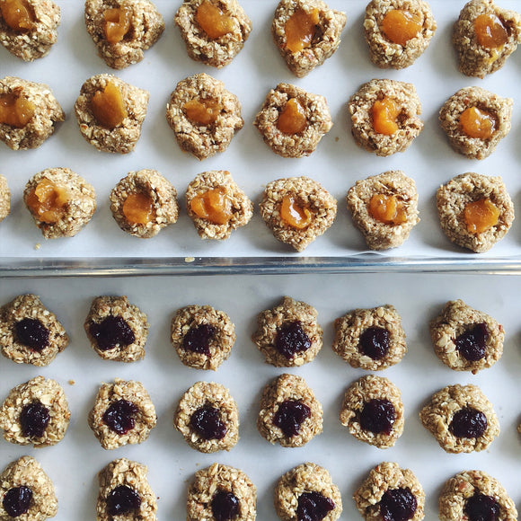 Vegan Thumbprint ('Bird's nest') Cookies