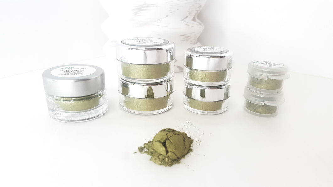 Raw Beauty Minerals, Green Apple Loose Eye Shadow, 3 size choices - Junkdrawercoolfinds.com