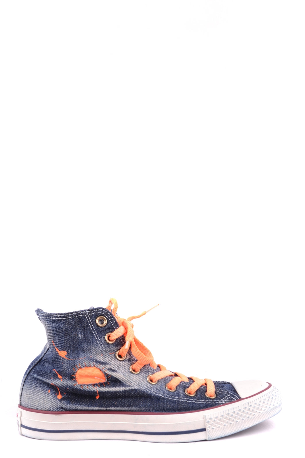 New CONVERSE ALL STAR Women's Black with Orange High Tops, multi sizes - Junkdrawercoolfinds.com