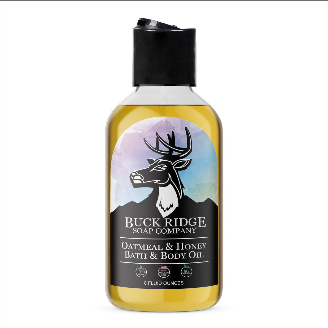 Buck Ridge Soap Co. Women's Oatmeal and Honey Bath & Body Oil - Junkdrawercoolfinds.com