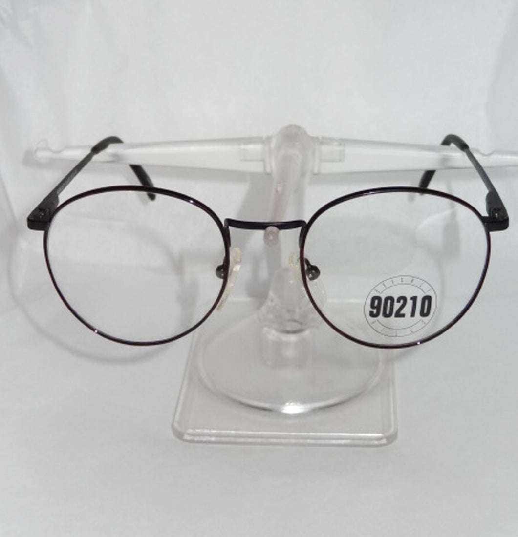 Vintage New Beverly Hills 90210 Eyeglass Frames, Terand David, Burgundy Black - Junkdrawercoolfinds.com