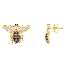 New Honey Bee Stud Earrings 22ct Gold