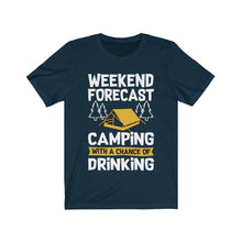 Camping With a Chance of Drinking T-Shirt 6 colors 6 sizes ea - Junkdrawercoolfinds.com