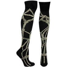 Ozone Socks, Shibari Seductress Over The Knee Sock, 3 color choices - Junkdrawercoolfinds.com