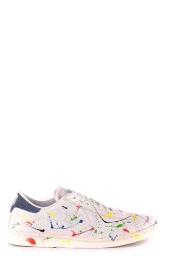 New CONVERSE ALL STAR Women's White W/ Colors Leather Sneakers, Multi Sizes - Junkdrawercoolfinds.com