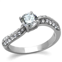 Women's Engagement Ring 1 lg/28 sm AAA CZ & Stainless Steel Sz 5-10 - Junkdrawercoolfinds.com