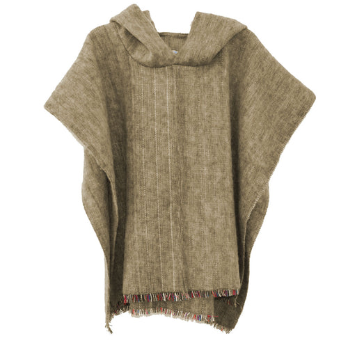 New 100% Alpaca Hooded Poncho in Camel Comes in 2 Sizes S & L - Junkdrawercoolfinds.com