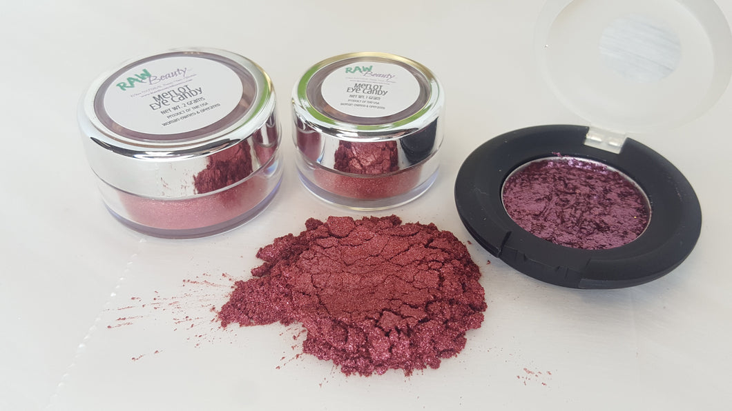 Raw Beauty Minerals, Merlot Eye Shadow / Blush Shimmer, 4 sizes available - Junkdrawercoolfinds.com