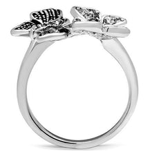 Women's Ring Dual Butterflies Rhodium Plating & AAA CZS Size 5-10