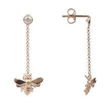 New Queen Bee Drop Earring  In 22ct Rosegold