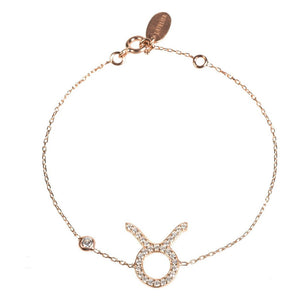 New TAURUS Zodiac Bracelet in 22ct gold, rhodium or 22ct rose gold - Junkdrawercoolfinds.com
