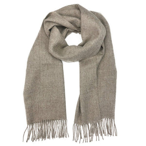 New Unisex Taupe Handmade 100% Baby Alpaca Scarf - Junkdrawercoolfinds.com