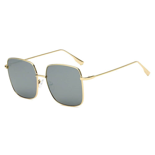 Metal Flat Lens Square Sunglasses 100% UV 8 color choices - Junkdrawercoolfinds.com